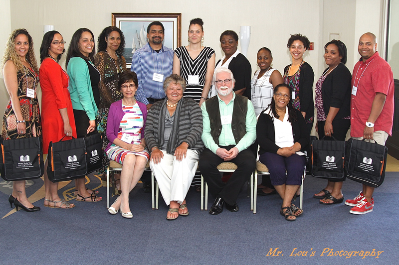(Back row left to right) Natalie Hodgson, Sarah-Ann Upshaw, Tracy Grouse, Gillian Thorp, Shawn Grouse, Kelli Ross, Faith Eweka, Danita Williams, Amy Parsons, Robin Reid and John Moshett (Seated) Dr. Deborah Day- Acadia, Sheila Lucas Cole- DBDLI, Dr. Ron Lehr- Acadia and Yvonne Atwell- DBDLI (Participants not in photo) Trevor Boyd, Jay Jarvis, DeRico Symonds, Raytia Turney, Kimberley Cain, Shawn Mantley, Delroy Mullings and David Phillips.