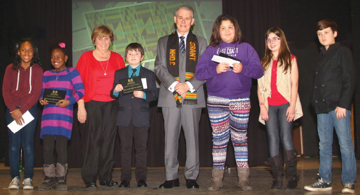 His Honour, Brigadier-General the Honourable J. J. Grant, CMM, ONS, CD (Ret'd), Lieutenant-Governor of Nova Scotia, presented the top school prizes at the 2016 DBDLI Awards ceremony.